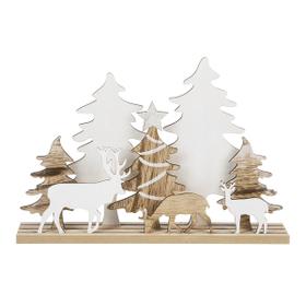 Laser Cut Reindeer and Christmas Tree Figurine