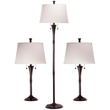 See Details - Park Avenue - 3-Pack - 2 Table Lamps, 1 Floor Lamp