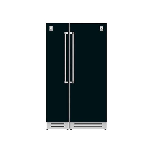 "Hestan - 48"" Column Freezer (L) and Refrigerator ® Ensemble Refrigeration Suite - Stealth"
