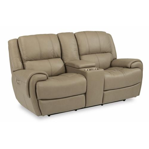 - Nance Power Reclining Loveseat with Console and Power Headrests