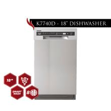 "Kucht 18"" Front Control Dishwasher in Stainless Steel with Stainless Steel Tub and Multiple Filter System"