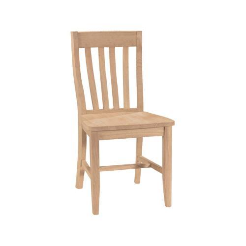 Unfinished Slatback Cafe Chair