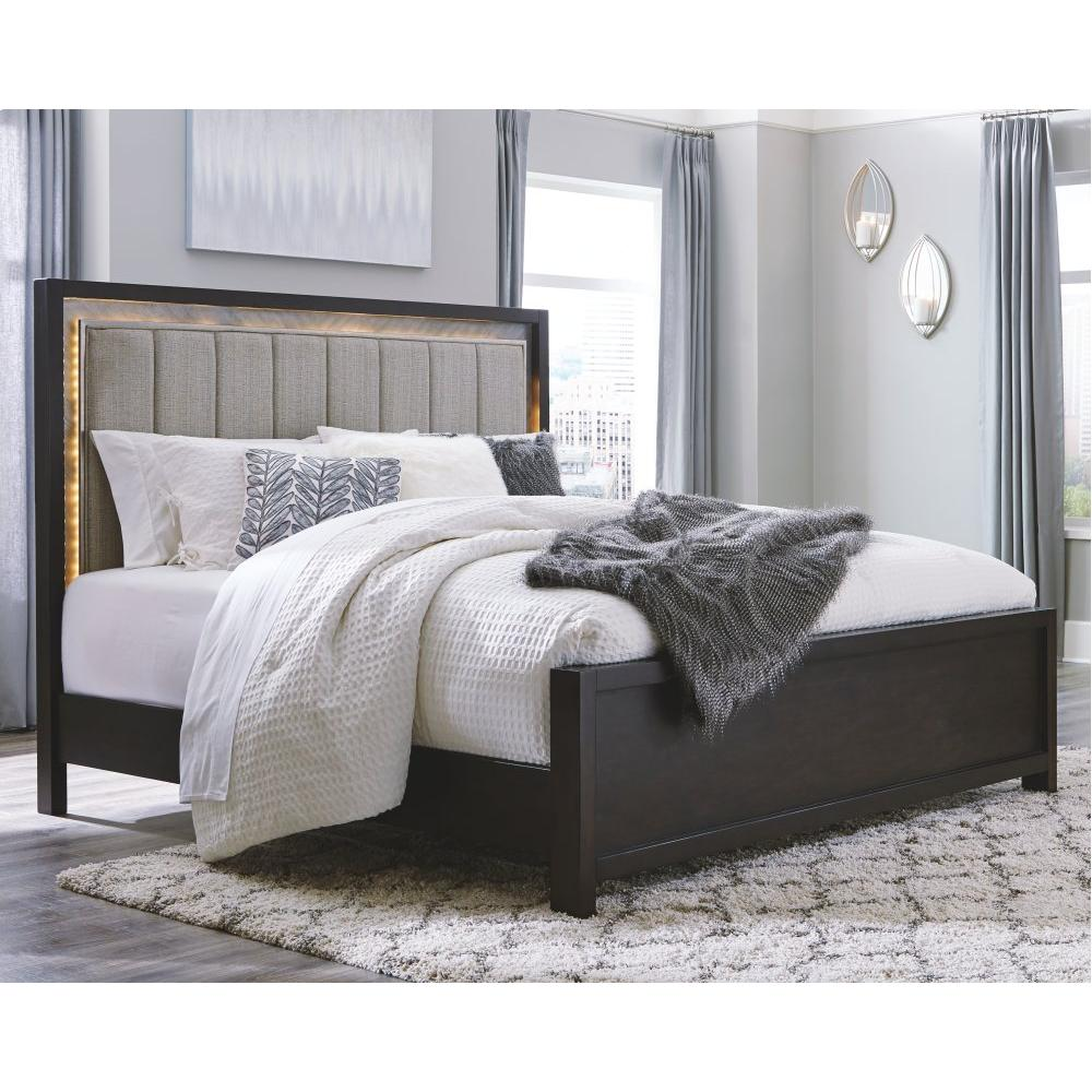 Maretto King Upholstered Panel Bed