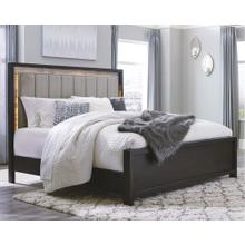Maretto King Upholstered Panel Bed Two-tone