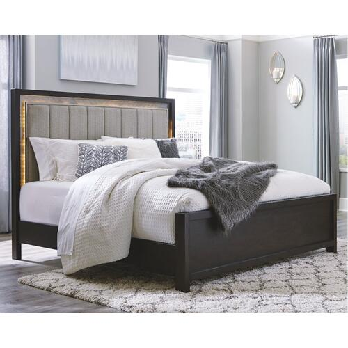 Maretto California King Upholstered Panel Bed Two-tone