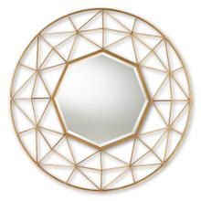 See Details - Baxton Studio Astra Modern and Contemporary Gold Finished Geometric Accent Wall Mirror