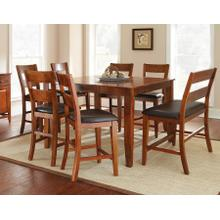 Mango 8 Piece Counter Set(Counter Table, Counter Bench & 6 Counter Chairs)