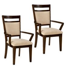 See Details - Avion 2-Pack Upholstered Arm Chairs, Cherry Brown