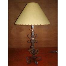 Metal Lamp With Texas Logo