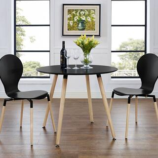 Track Round Dining Table in Black