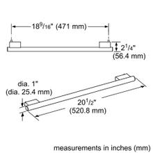20-Inch Masterpiece® Handle for Under Counter