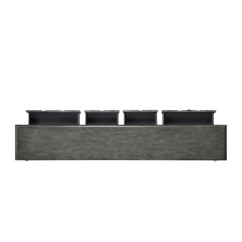 4-drawer and 1-shelf Console Table, Grey