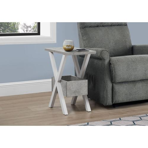 "ACCENT TABLE - 24""H / WHITE / GREY CEMENT-LOOK"