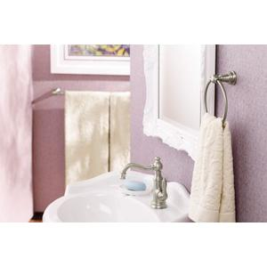 Weymouth brushed nickel towel ring