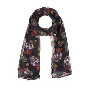 Colorful Carnival Skull Scarves (6 pc. ppk.)