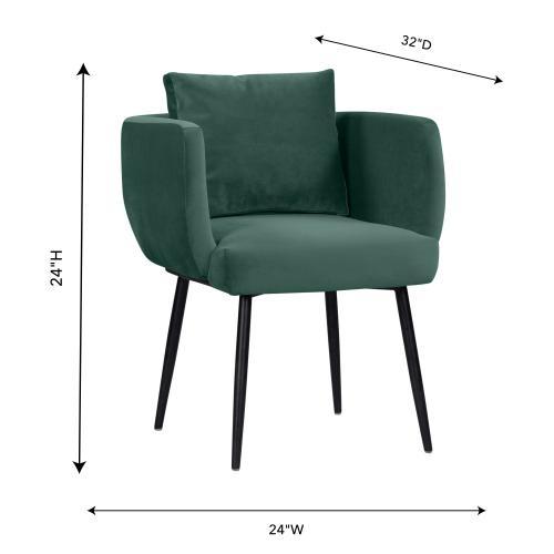 Alto Forest Green Velvet Dining Chair