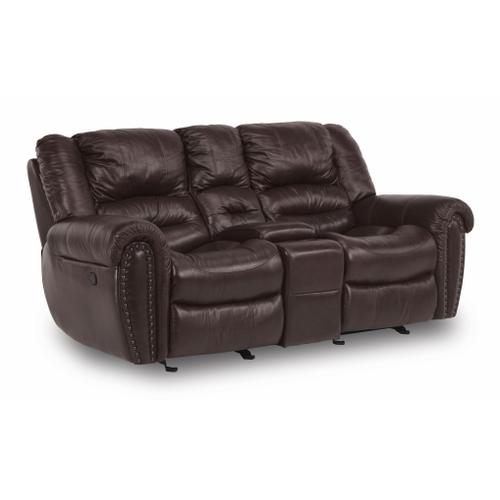 Flexsteel - Town Gliding Reclining Loveseat with Console