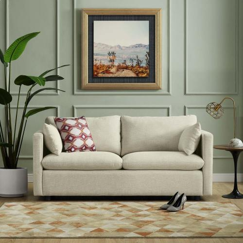 Activate Upholstered Fabric Sofa in Beige