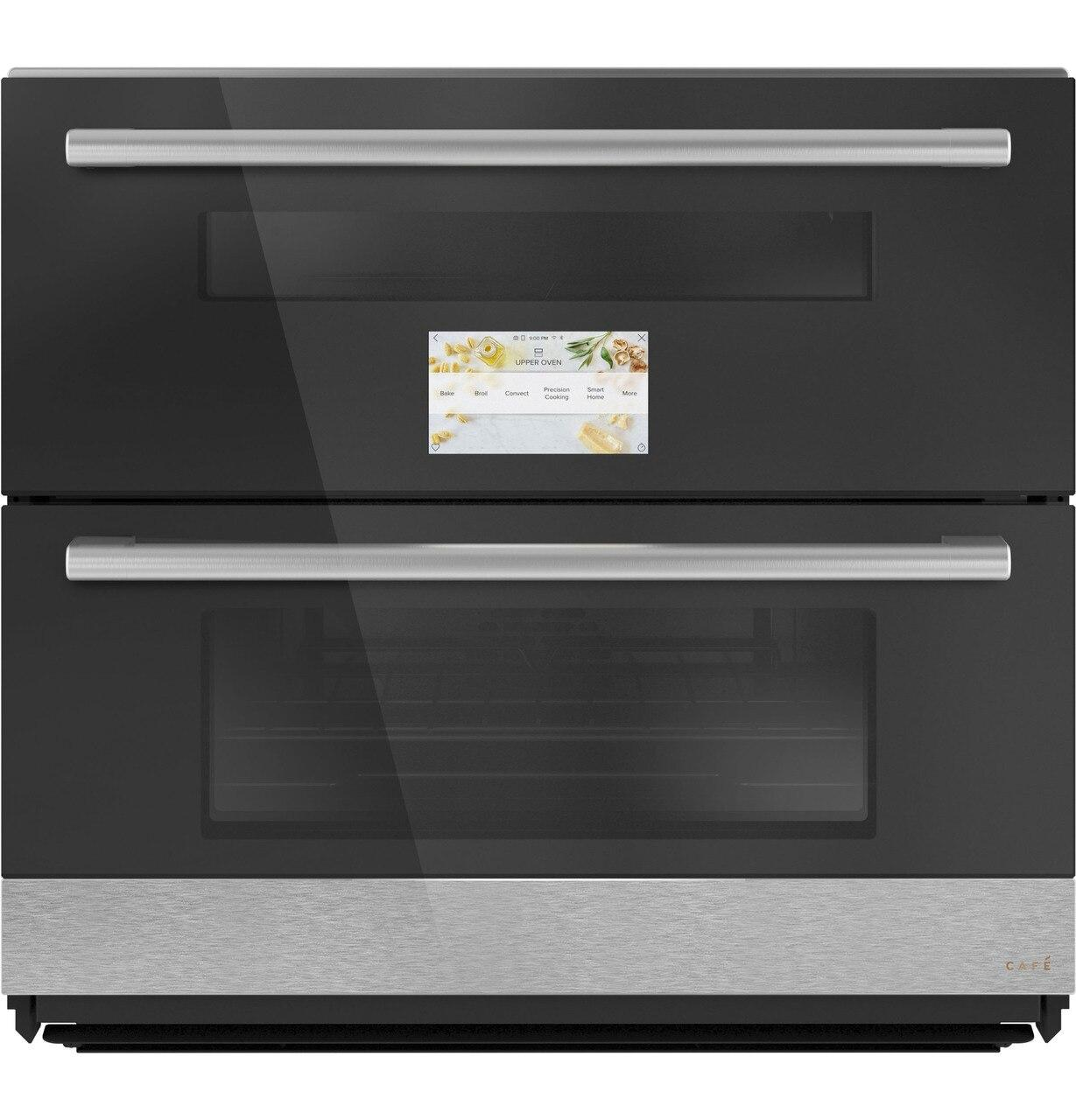 """CafeCafé™ 30"""" Duo Smart Single Wall Oven In Platinum Glass"""