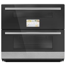 "Café Minimal Series 30"" Smart Built-In Twin Flex Single Wall Oven in Platinum Glass"