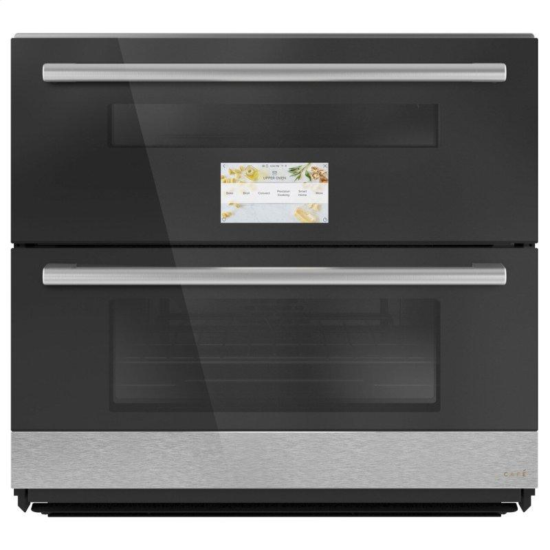 """Café™ 30"""" Duo Smart Single Wall Oven in Platinum Glass"""