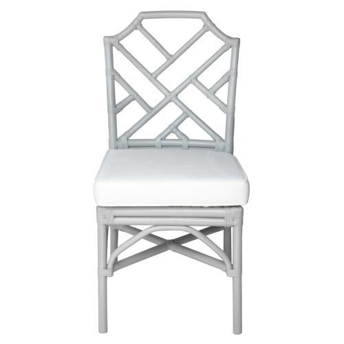Kara Rattan Chair, Gray