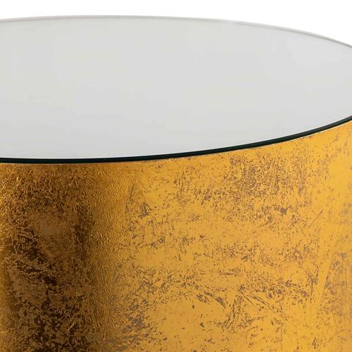 Mia Handpainted Gold Side Table by Inspire Me! Home Decor