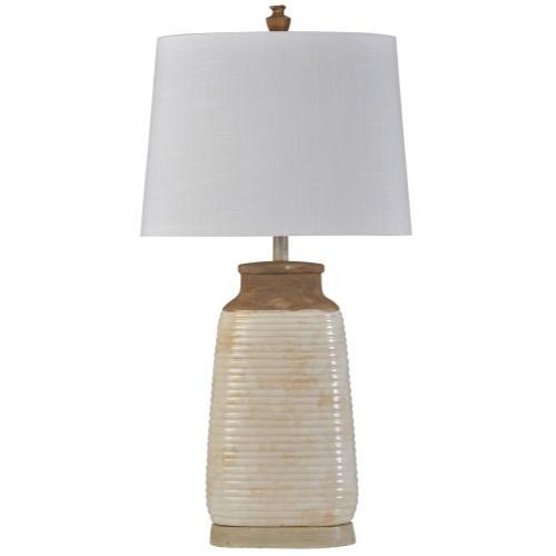 Product Image - Armond Ivory  Traditional  Ceramic Table Lamp  100W  3-Way  Hardback Shade