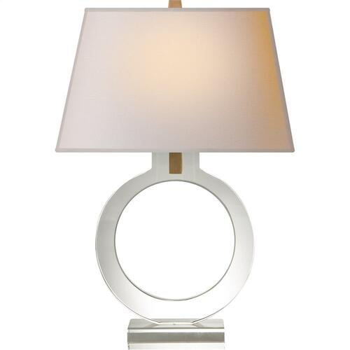 Visual Comfort CHA8969CG-NP E. F. Chapman Ring 20 inch 75 watt Crystal Decorative Table Lamp Portable Light