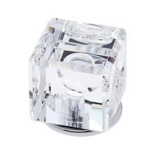 Polished Chrome 30 mm Square Crystal Knob