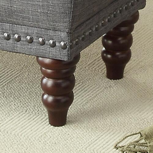 Hampton Storage Ottoman in Grey