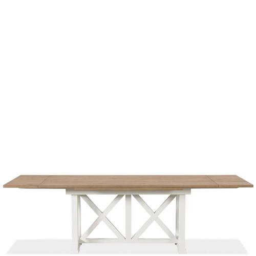 Riverside - Osborne - Rectangular Dining Table - Timeless Oak/winter White Finish