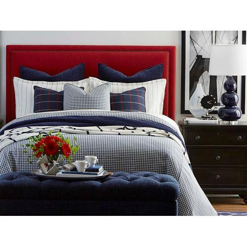 Custom Uph Beds Manhattan Full Rectangular Bed, Footboard Low, Storage None, Insert Type Tufted
