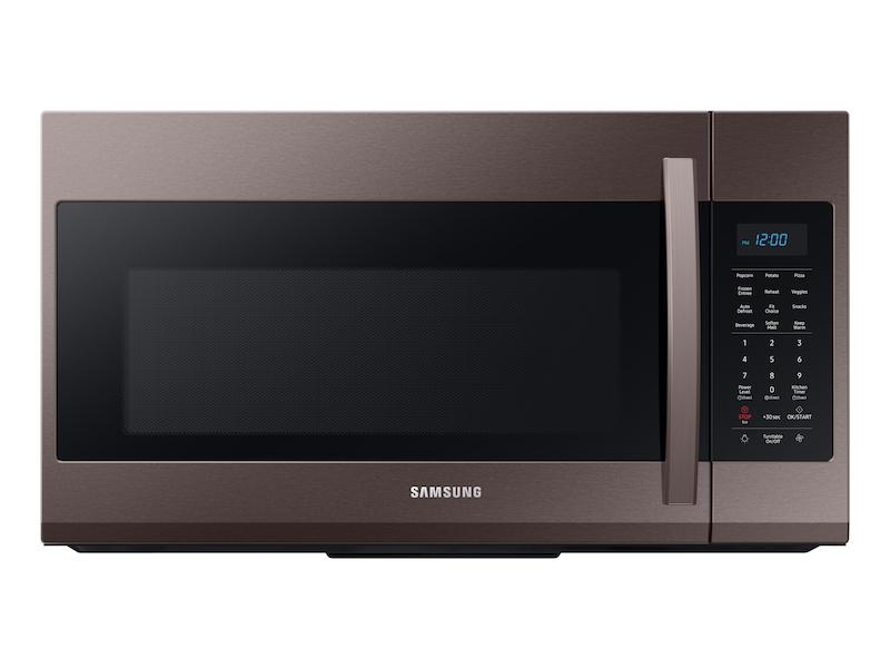 Samsung1.9 Cu Ft Over The Range Microwave With Sensor Cooking In Fingerprint Resistant Tuscan Stainless Steel