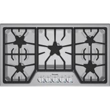 "See Details - Masterpiece 36"" Stainless steel 5-burner gas cooktop"