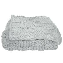Hand Knitted Chess Throw, 50x60 (4 Colors) - Gray