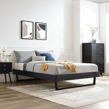 Billie Full Wood Platform Bed Frame in Black
