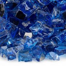 "See Details - 1/2"" Cobalt Reflective, 10 Lb. Jar Fire Glass"