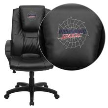 Richmond Spiders Embroidered Black Leather Executive Office Chair