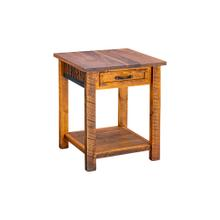 Mossy Oak Carver Point 1 Drawer Nightstand With Shelf Natural Bark & Walnut