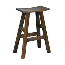 CC-ACCTC20BS-OJ  Saddle Barstool  Solid Wood  Java Brown