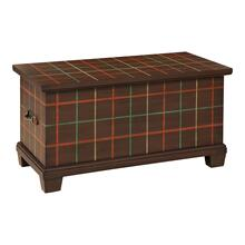 Highlands Plaid Storage Trunk-Floor Sample-**DISCONTINUED**