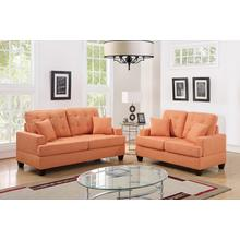 Clara 2pc Loveseat & Sofa Set, Citrus