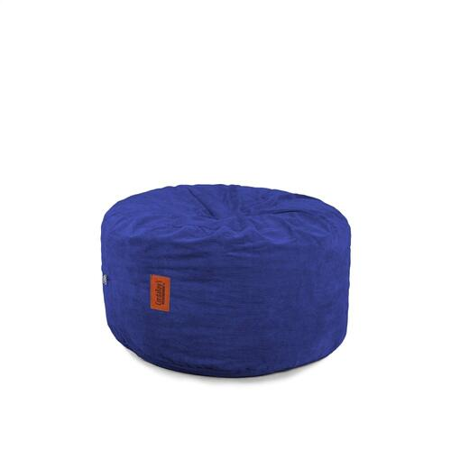 Footstool - Corduroy - Navy Blue