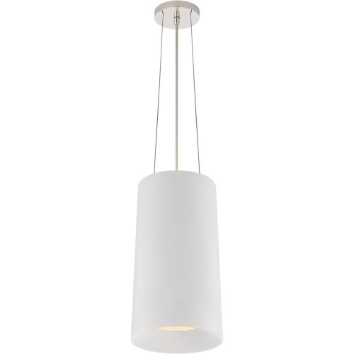 Visual Comfort BBL5088WHT Barbara Barry Halo 1 Light 10 inch White Hanging Shade Ceiling Light, Tall