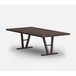 """42"""" x 84"""" Rectangular Dining Table (with Hole) Ht: 27.5"""" Architectural Aluminum Base (Model # Includes Both Top & Base)"""