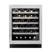 24 Inch Single Zone Stainless Glass Door Right Hinge ADA Height Undercounter Wine Cabinet