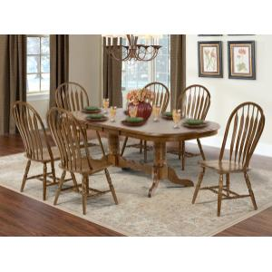 A America - Double Butterfly Trestle Table