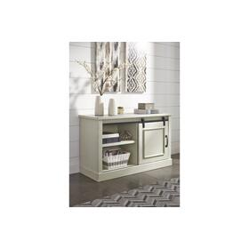 Jonileene Home Office Cabinet White/Gray