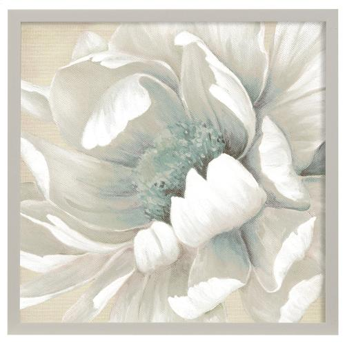 Style Craft - Winter Blooms II  Made in USA  Artist Print  Faux Wood Frame Under Glass  Attached Hanging Hardw